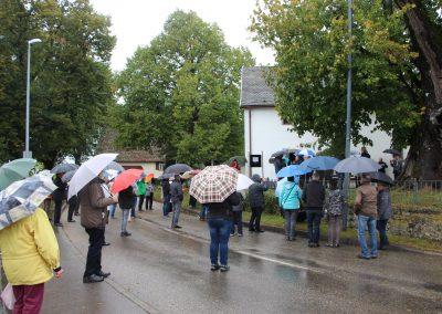 Ausrufungszeremonie im strömenden Regen Foto M-JAUCH
