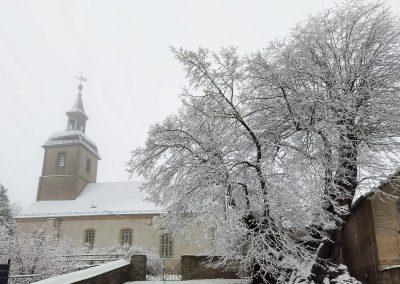 Prangerlinde Großpörthen: Winter war bestellt